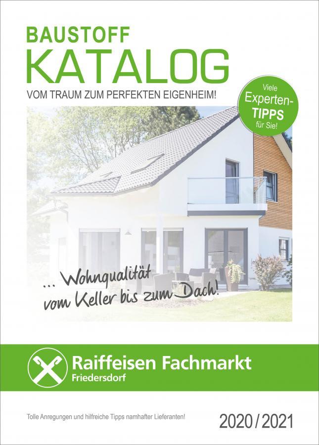Raiffeisen Genossenschaft Friedersdorf e.G. Baustoffkatalog 2020 / 2021