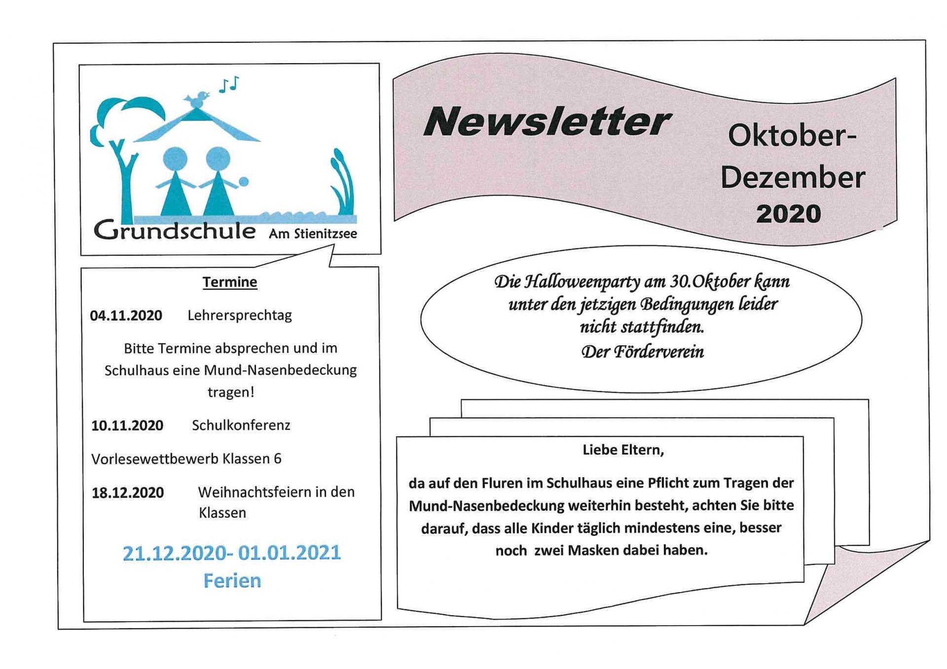 Newsletter Okt-Dez 2020