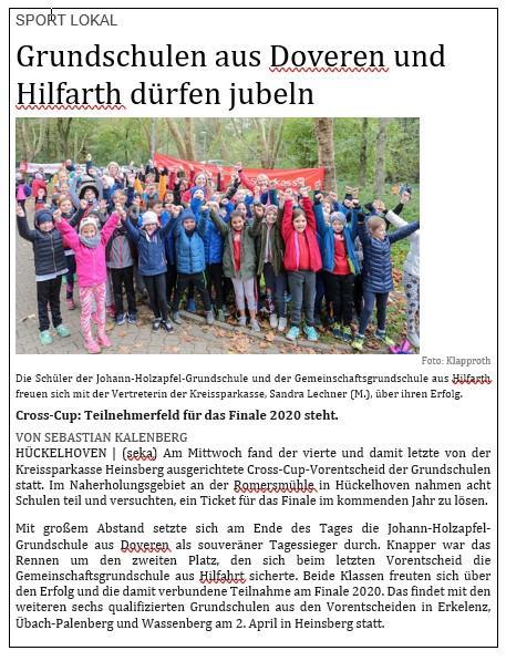 Zeitungsartikel Crosscup RP