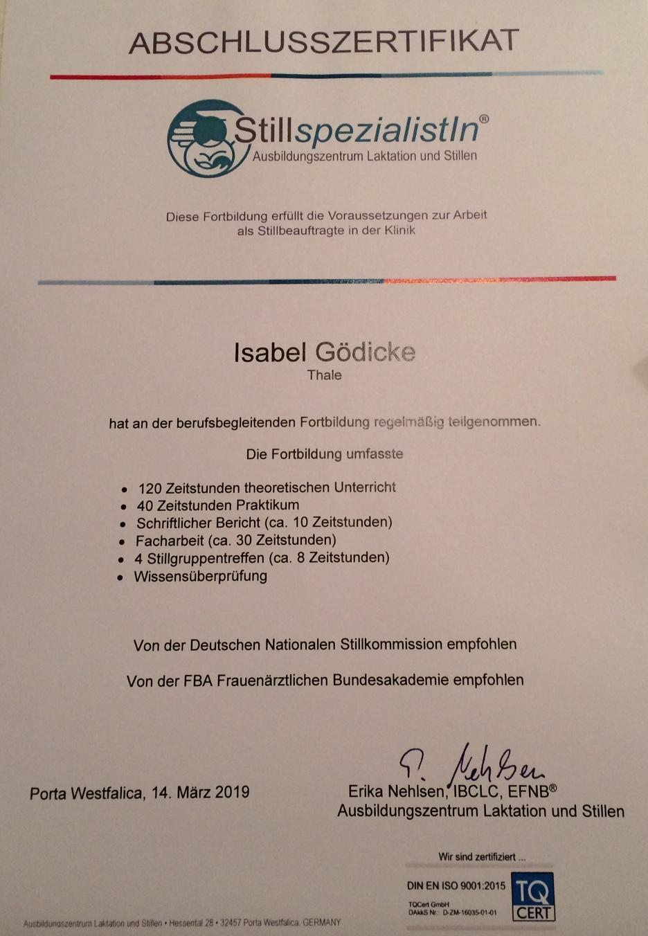ZertifikatStillen