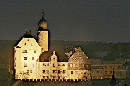 Nachtansicht Schloss Eisfeld