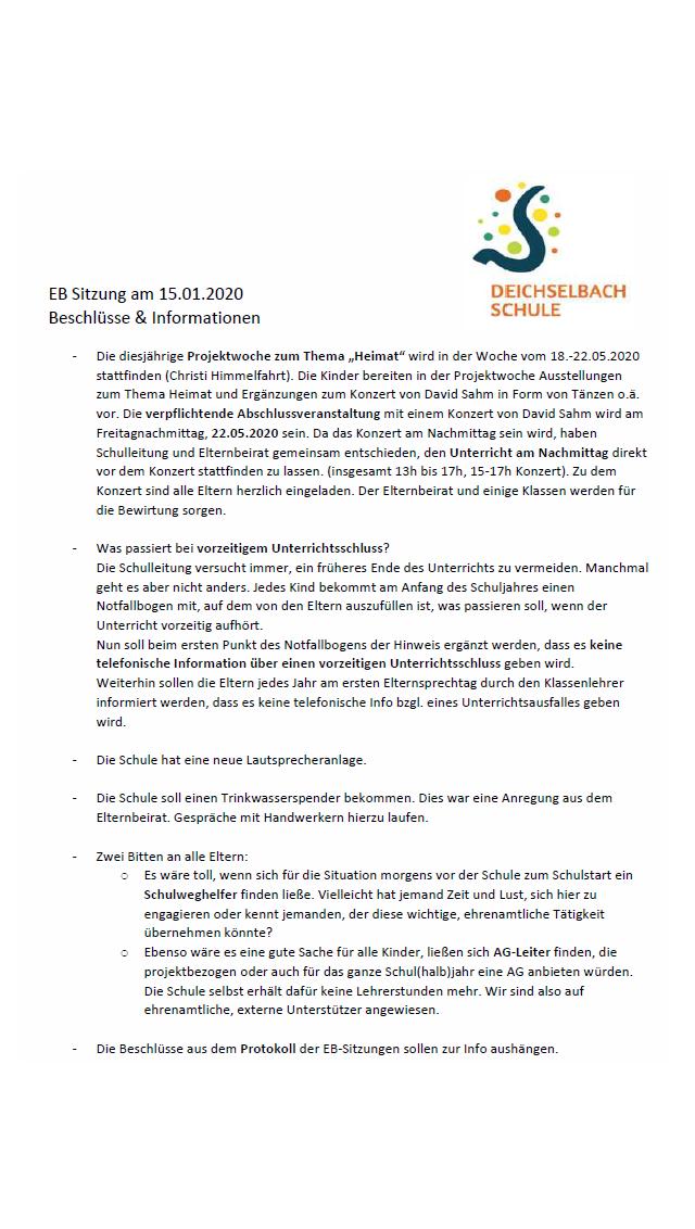 EB-Sitzung Januar
