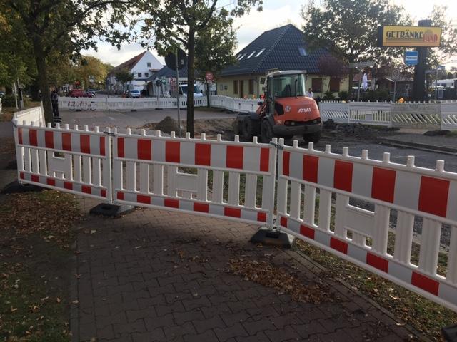 Straßensperrung Richtung Eichenhof