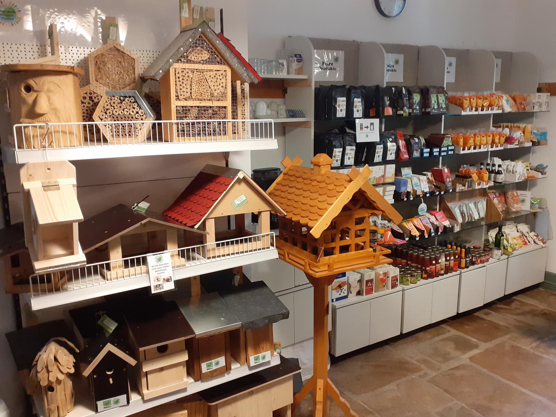 Holzprodukte und Lebensmittel