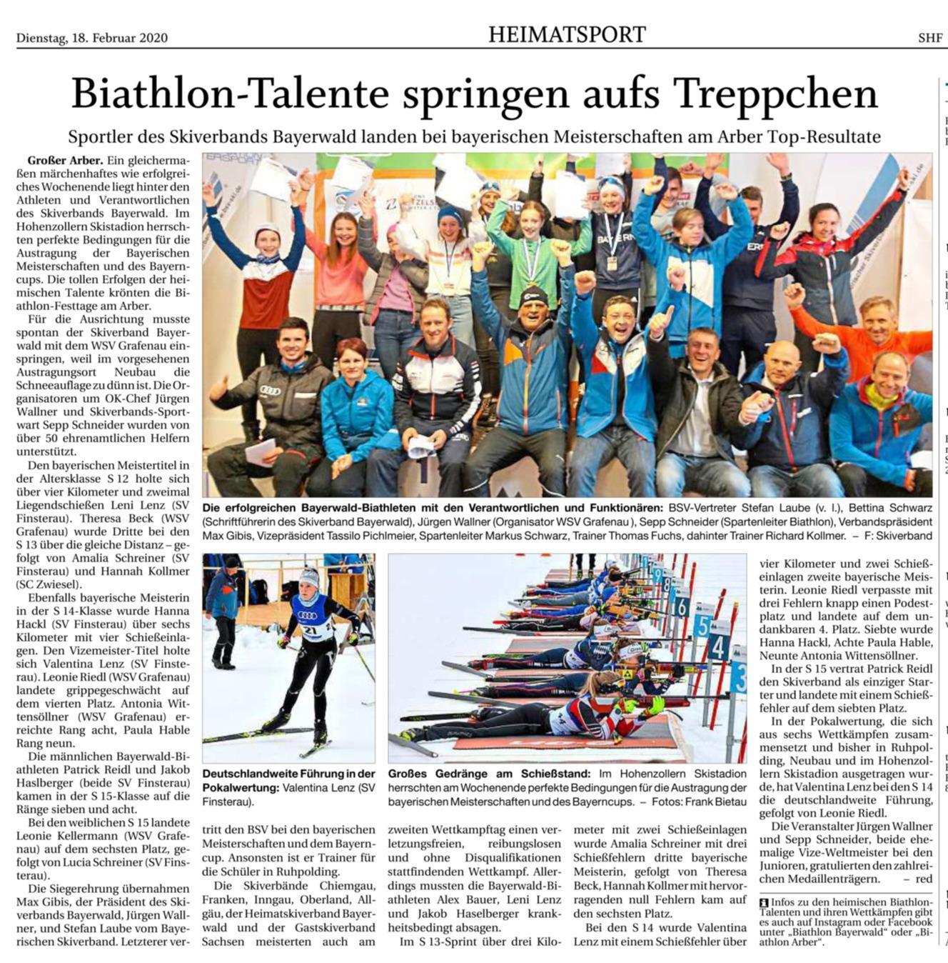 Biathlon-Talente springen aufs Treppchen