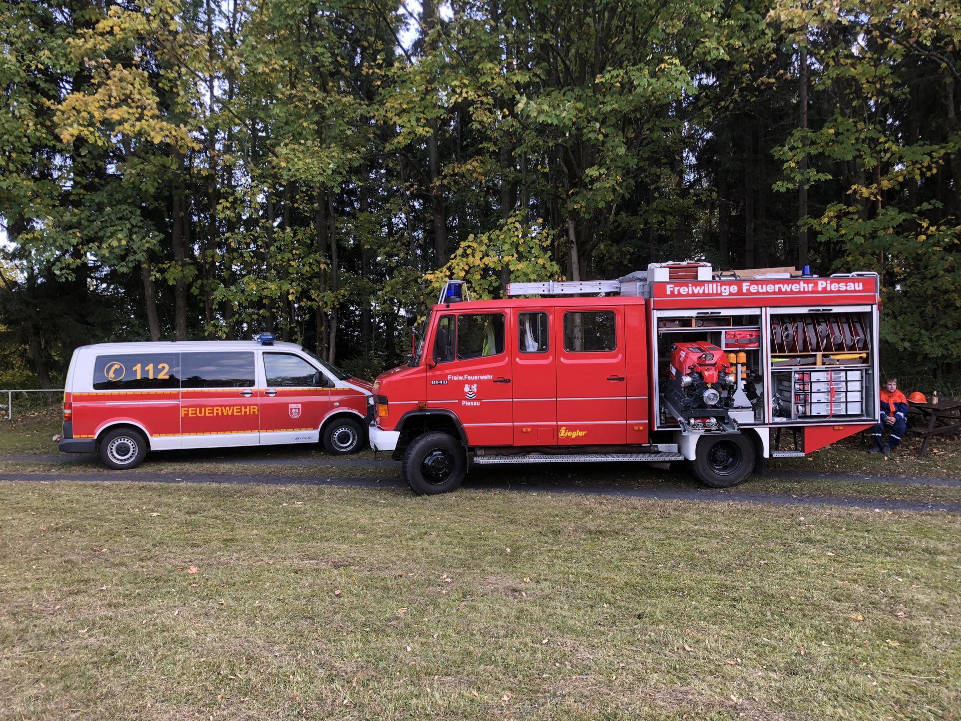 Fahrzeuge der Ortsteilfeuerwehr Piesau