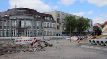 Bau Kreisverkehr Bahnhofstraße/Poststraße