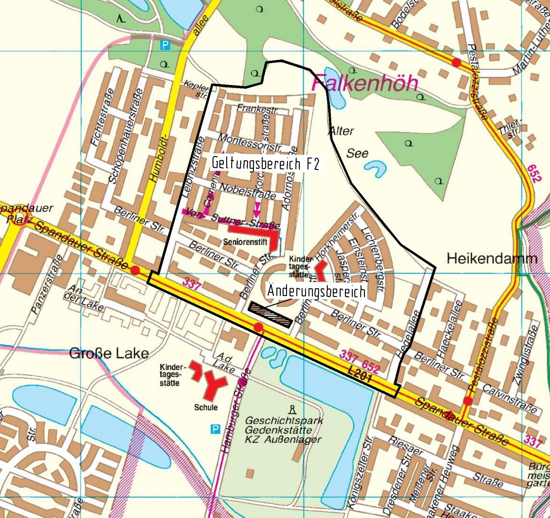 F 2 Stadtplanausschnitt