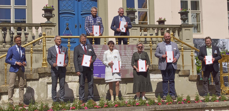 Gruppenbilder der Projektpartner Europäischer Parkverbund Lausitz mit Vertretern der Euroregion Spree-Neiße-Bober