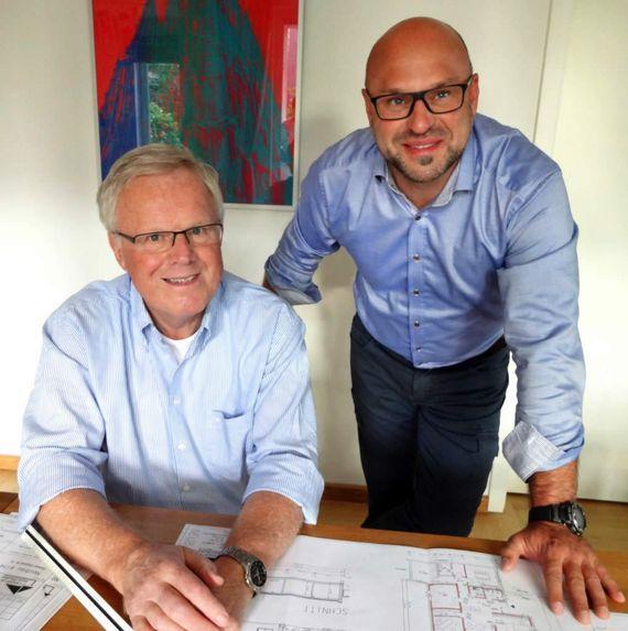 Bauingenieur Bernhard Flaspöler und Dipl.-Ing. (FH) Christian Otterbach