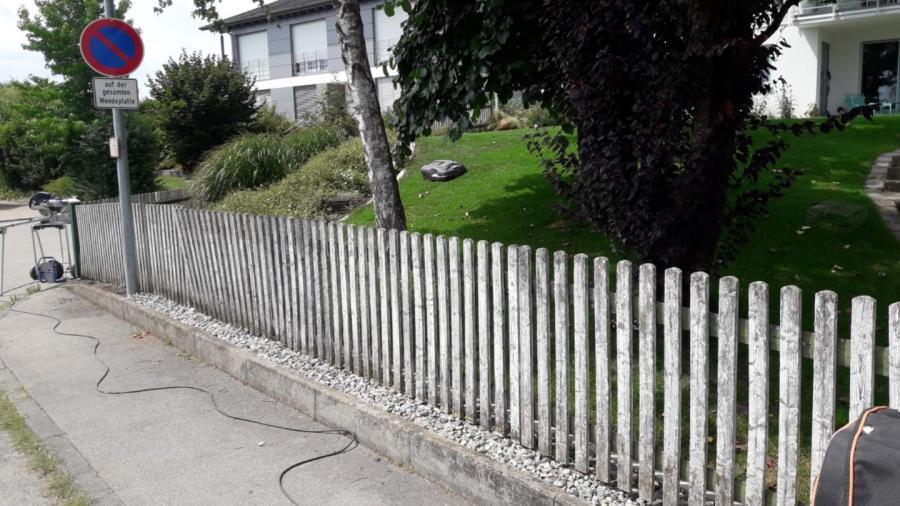 Zaun vorher