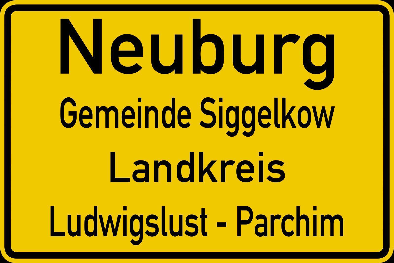 Ortsschild Neuburg