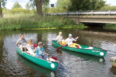 Familienausflüg im Kanu