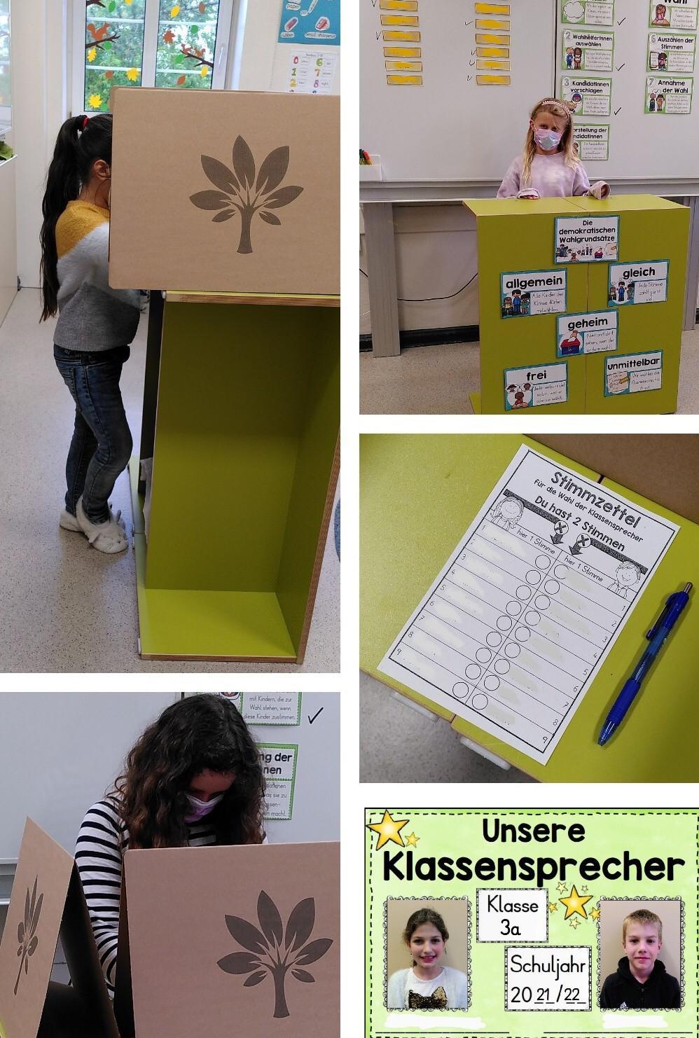 Klassensprecherwahl 3a