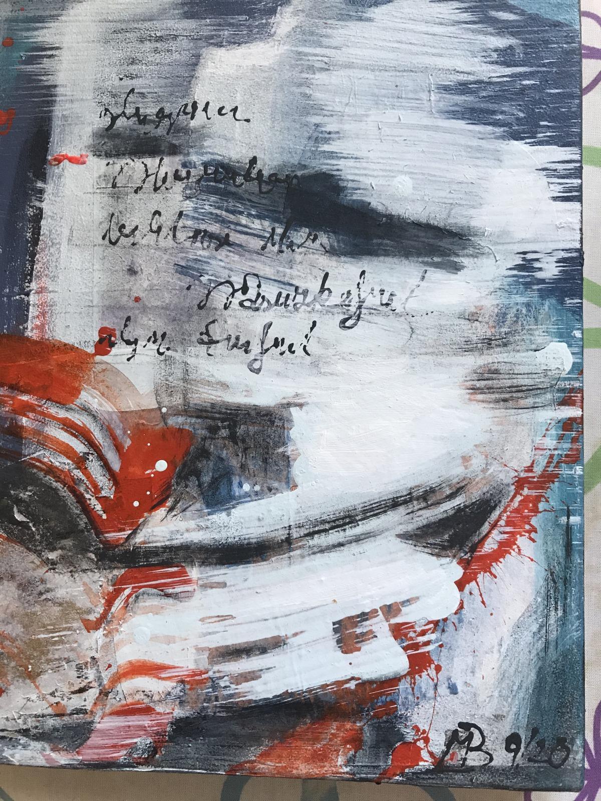 'Schüttbild Nr. 3,Acryl-Mischtechnik, 40 cm h x 28 cm b x 3 cm t