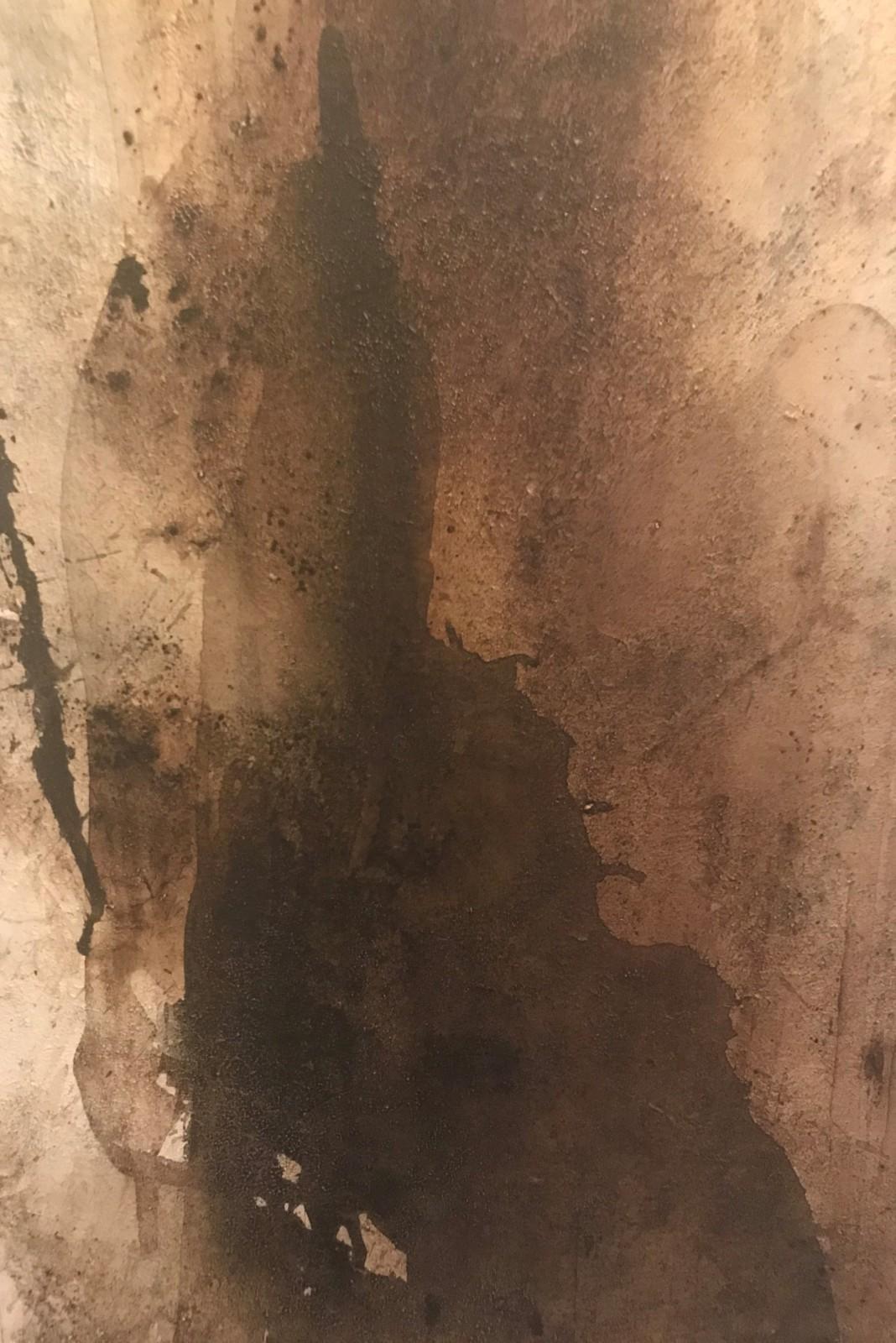 'Vulkanfeuer', Acryl-Mischtechnik, 80 cm h x 50 cm b x 2 cm t