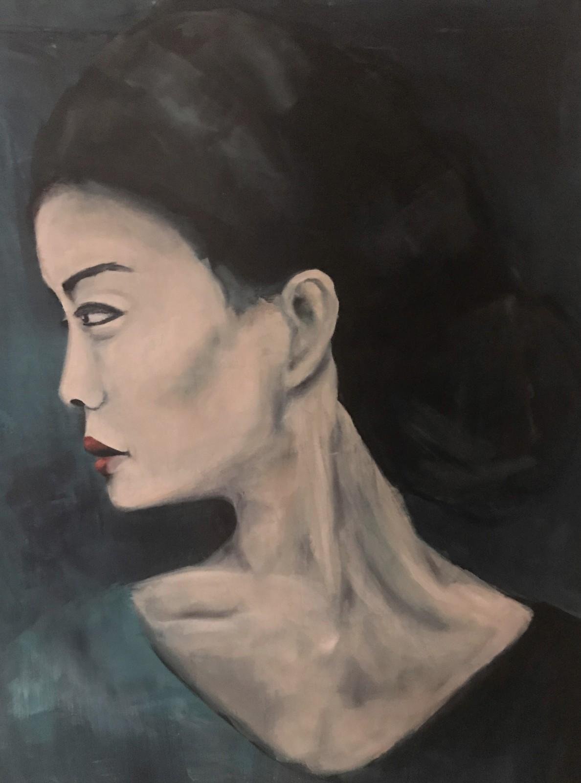 'Sejun', Öl auf Leinwand, 100 cm h x 80 cm b x 3 cm t