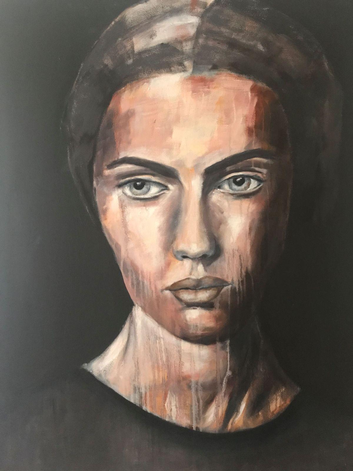 Porträt 'Erin', Öl auf Leinwand, 100 cm h x 80 cm b x 3 cm t