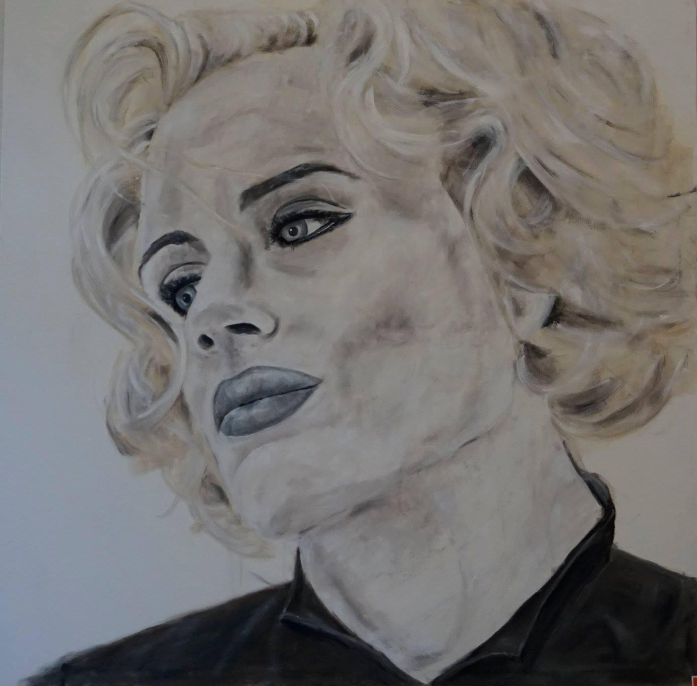 Porträt 'Gwenn', Öl auf Leinwand, 150 cm h x 150 cm b x 2 cm t