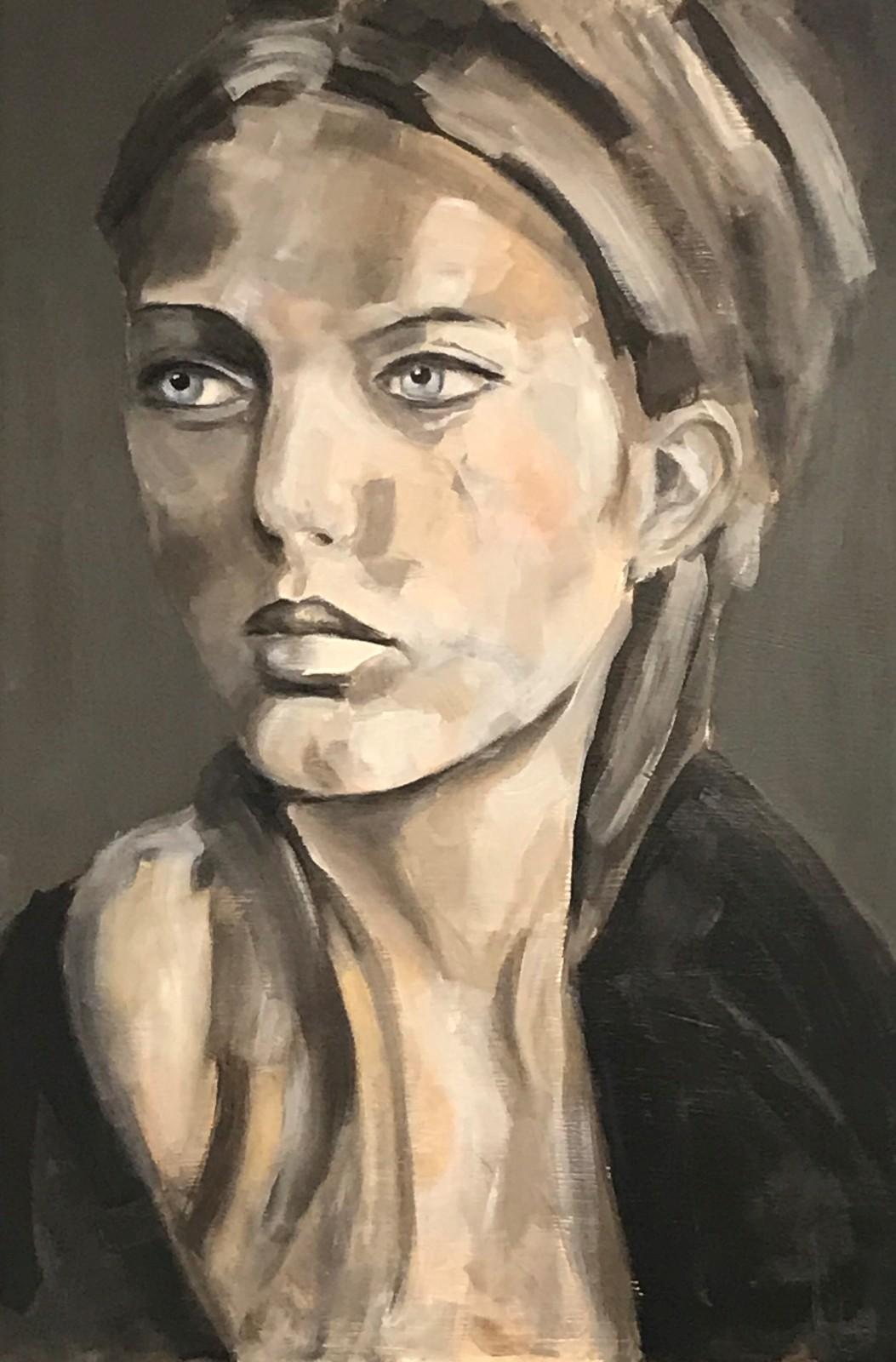 Porträt 'Ragna', Öl auf Leinwand, 120 cm h x 80 cm b x 3 cm t