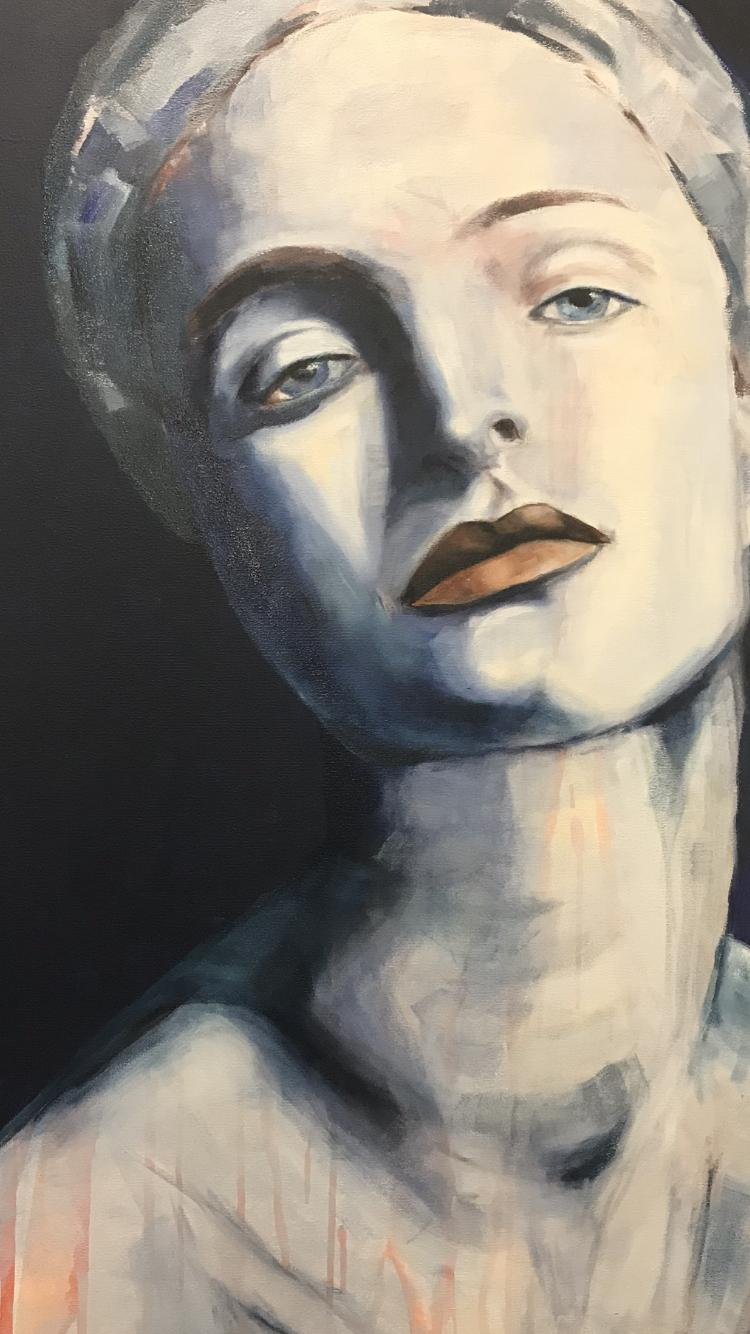 Porträt 'Swansea', Öl auf Leinwand, 120 cm h x 80 cm b x 3 cm t