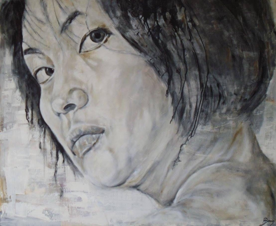 Porträt 'Umi', Öl auf Leinwand, 80 cm h x 100 cm b x 2 cm t