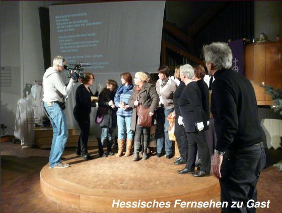 Hessischer Rundfunk zu Gast beim Erwachsenen-Krippenspiel