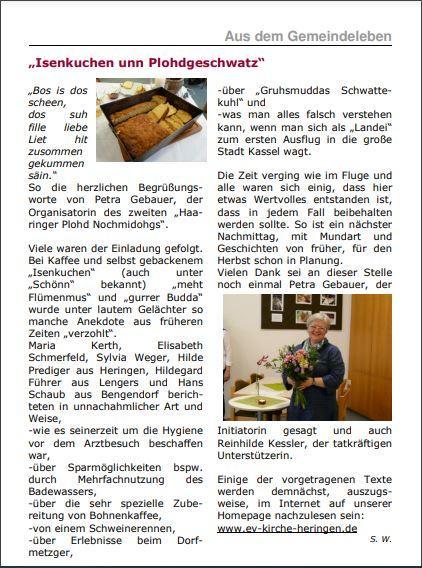 Heringer Platt-Nachmittag