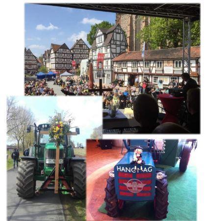 Pilgern mit Traktoren 2