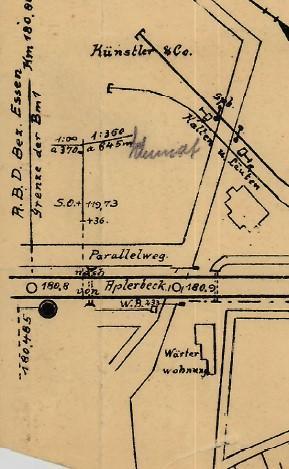 Kartenausschnitt Posten 180