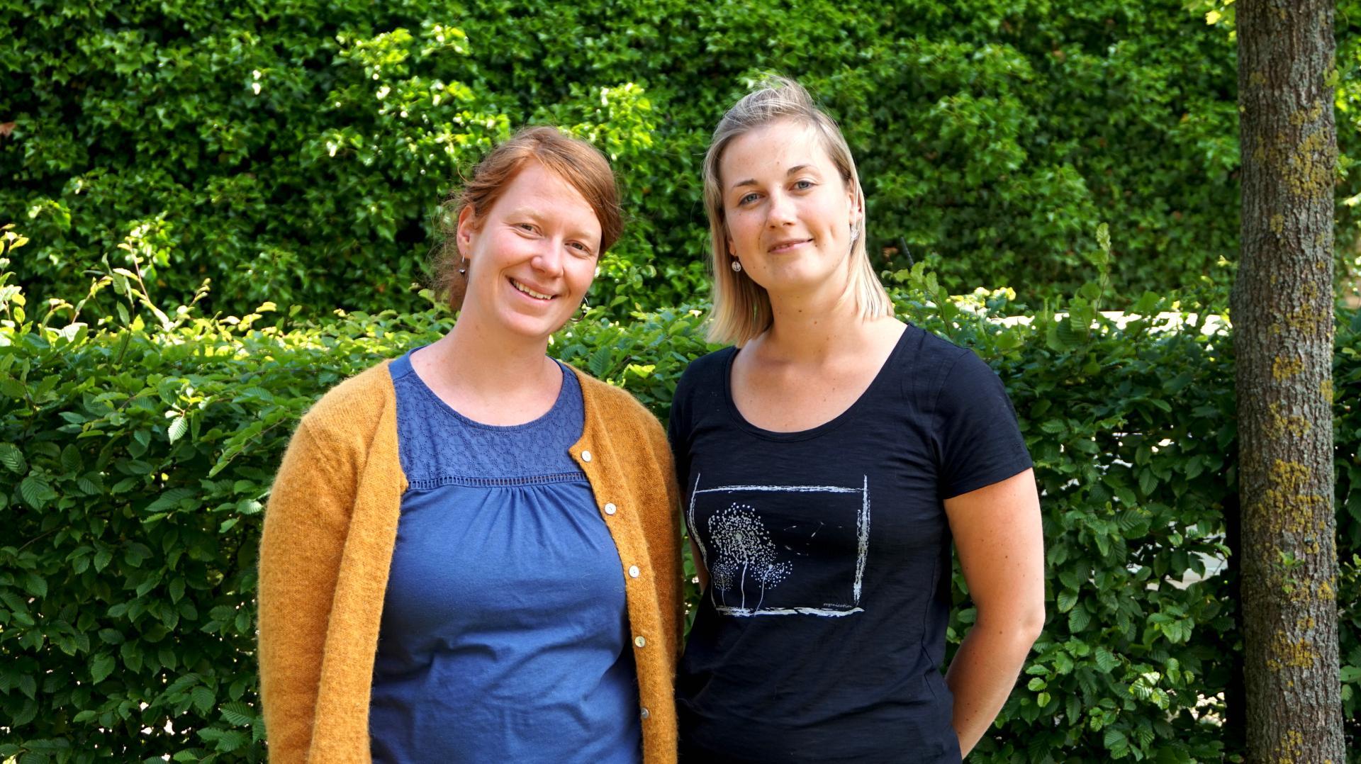 Klimaschutzmanagerinnen Dr. Elena Zydek und Maria Hock