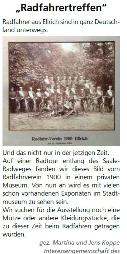 Radfahrverein Bild