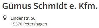Gümus Schmidt e.Kfm.