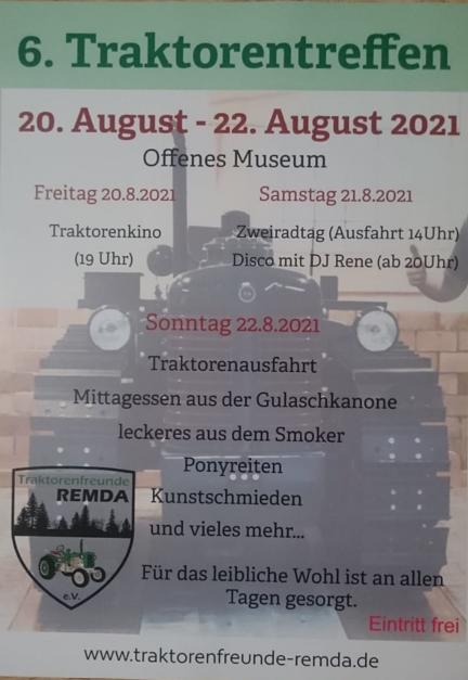 Rahmenprogramm Traktorentreffen 2021