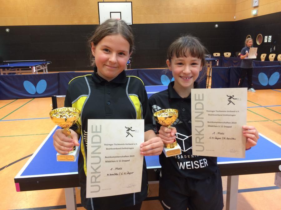 Doppelsieger Marianna Karalkas und Gloria-Elise Wagner