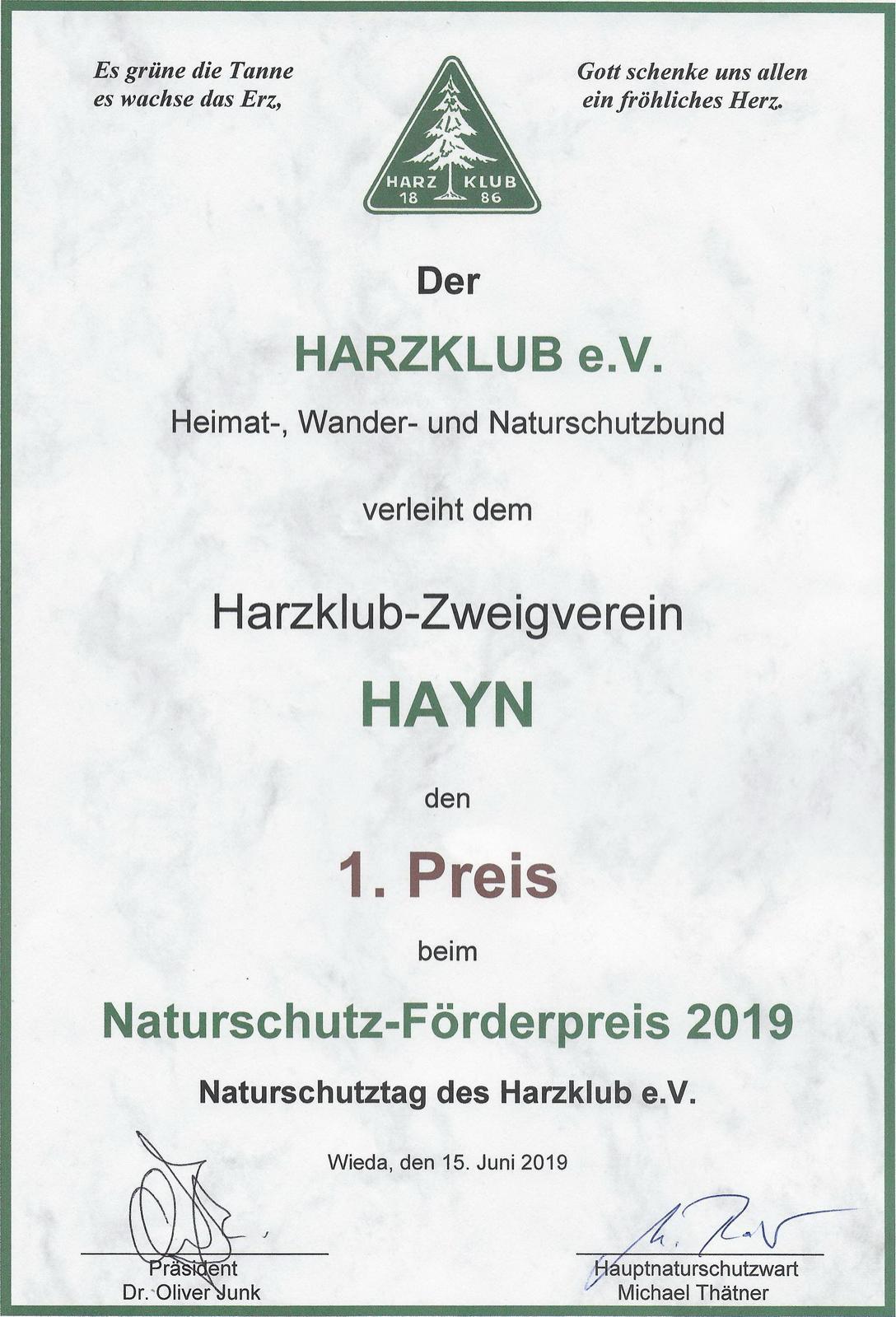 19 Urkunde NFP