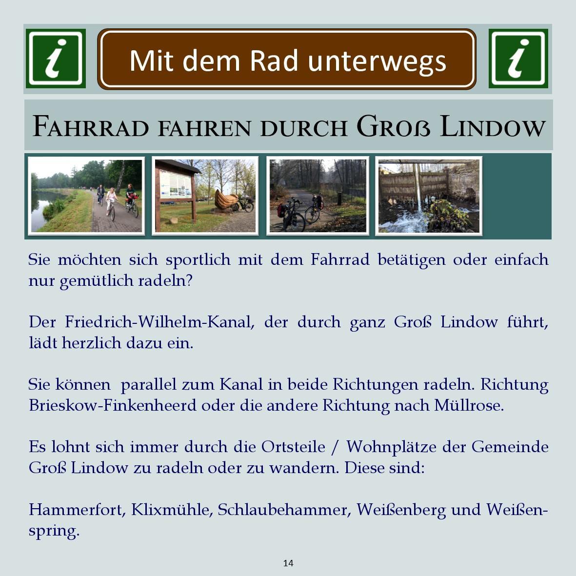 Groß Lindow Freizeitgestaltung 14