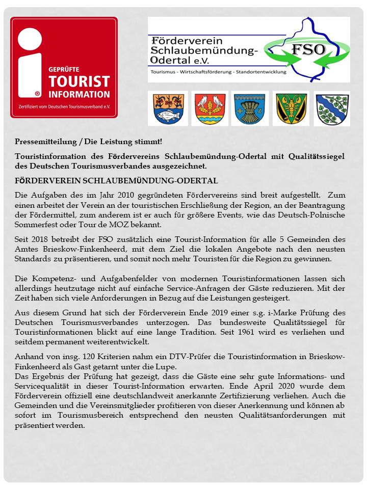 Pressemitteilung 11.5.2020 Zertifizierung der i-Marke