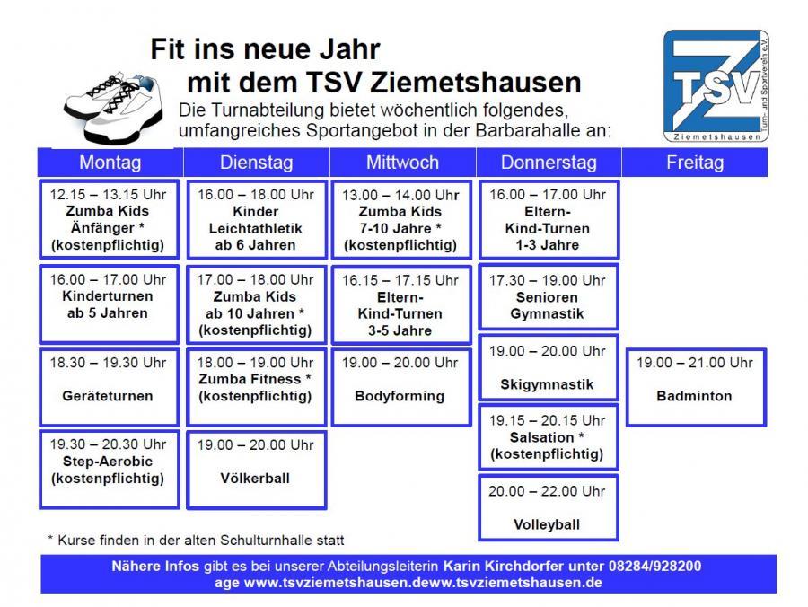 TSV Kursprogramm