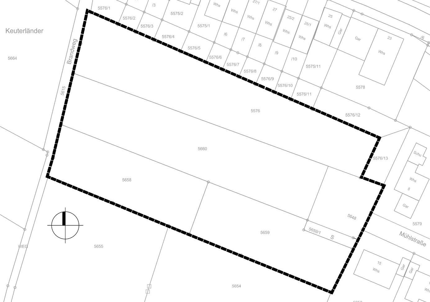 Kartenausschnitt räumlicher Geltungsbereich