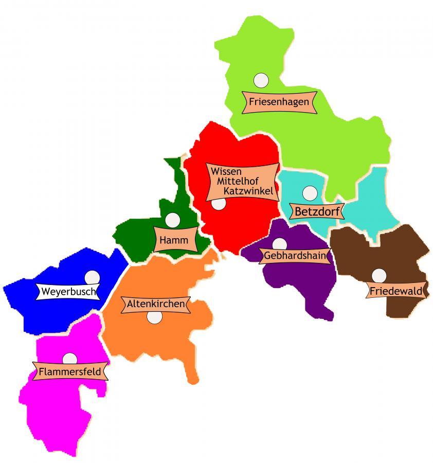 Bezirke Farbe