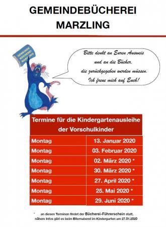 Kindergartenausleihe 2019/2020
