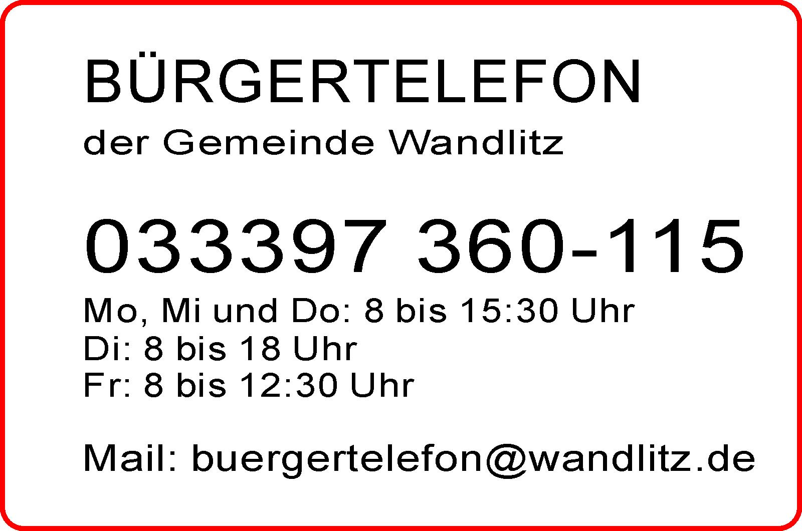 Buergertelefon Corona-Hotline