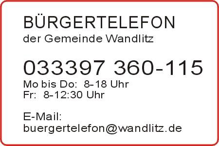 Bürgertelefon Wandlitz