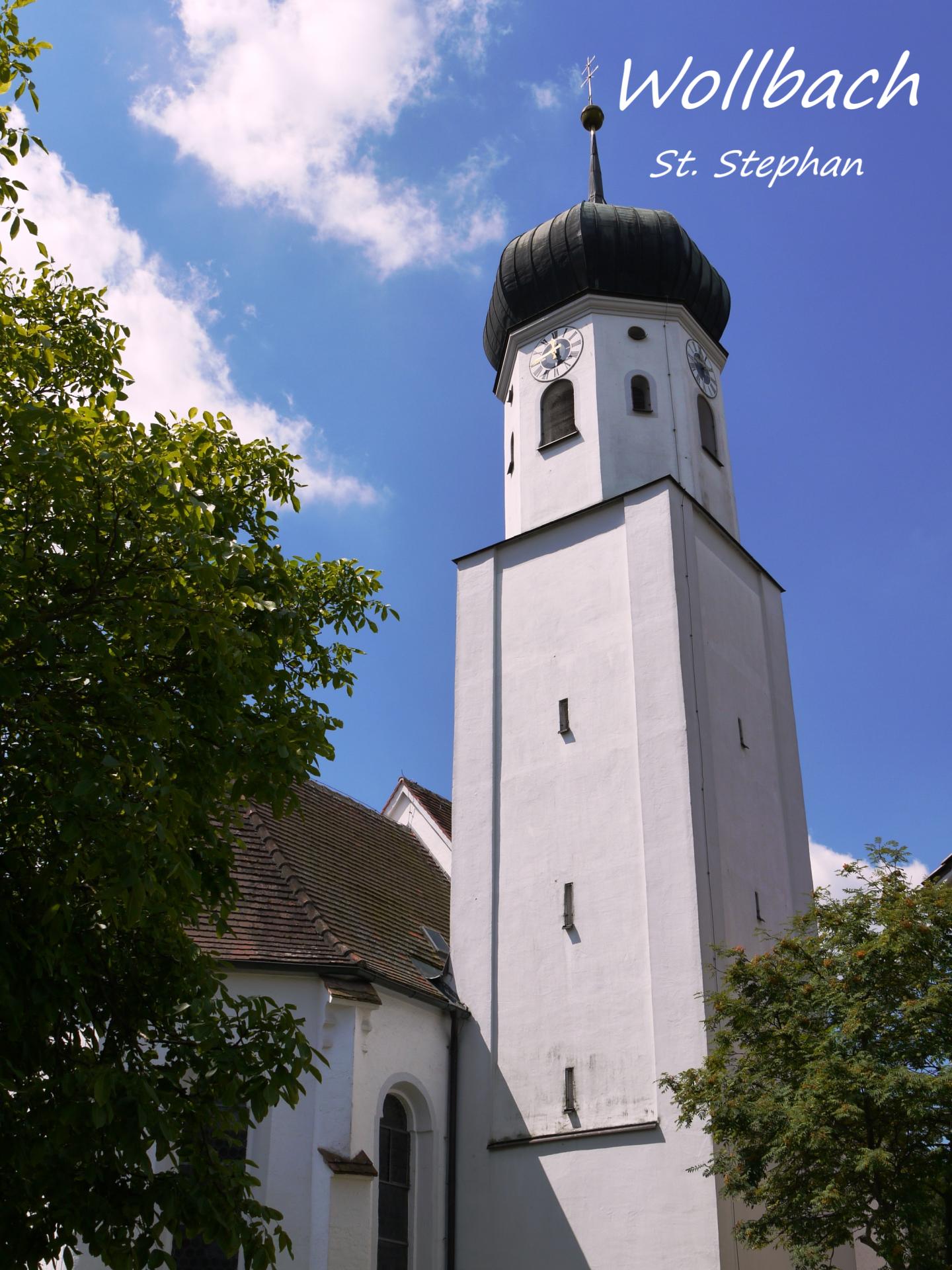 Wollbach, Kirchturm St. Stephan; Foto: Max Trometer