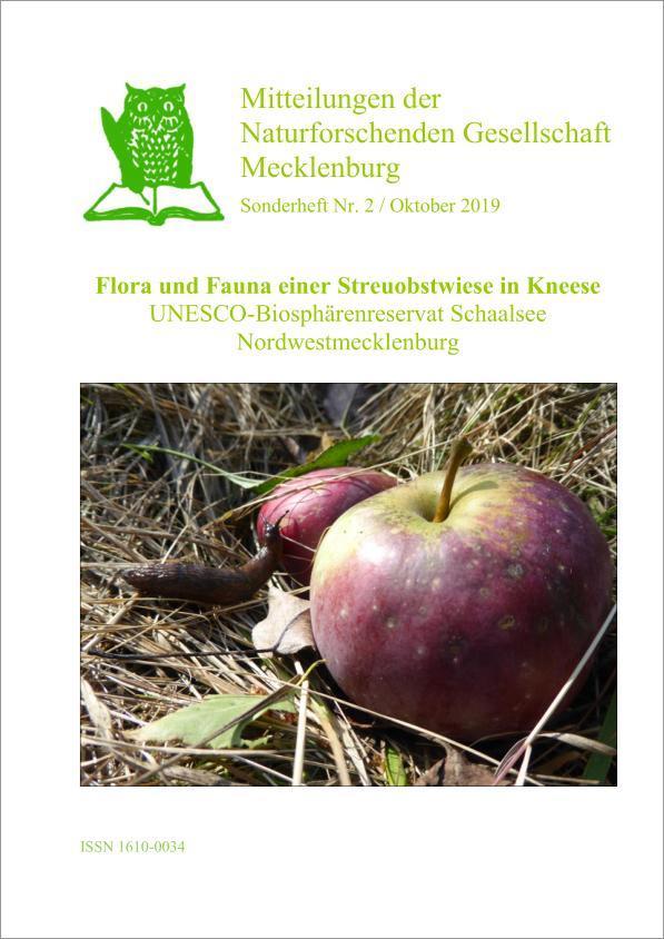 Mitteilungen der Naturforschenden Gesellschaft Mecklenburg - Sonderheft Nr. 2 / Oktober 2019