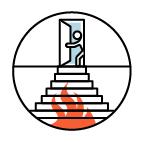 Fluchtweg Treppe