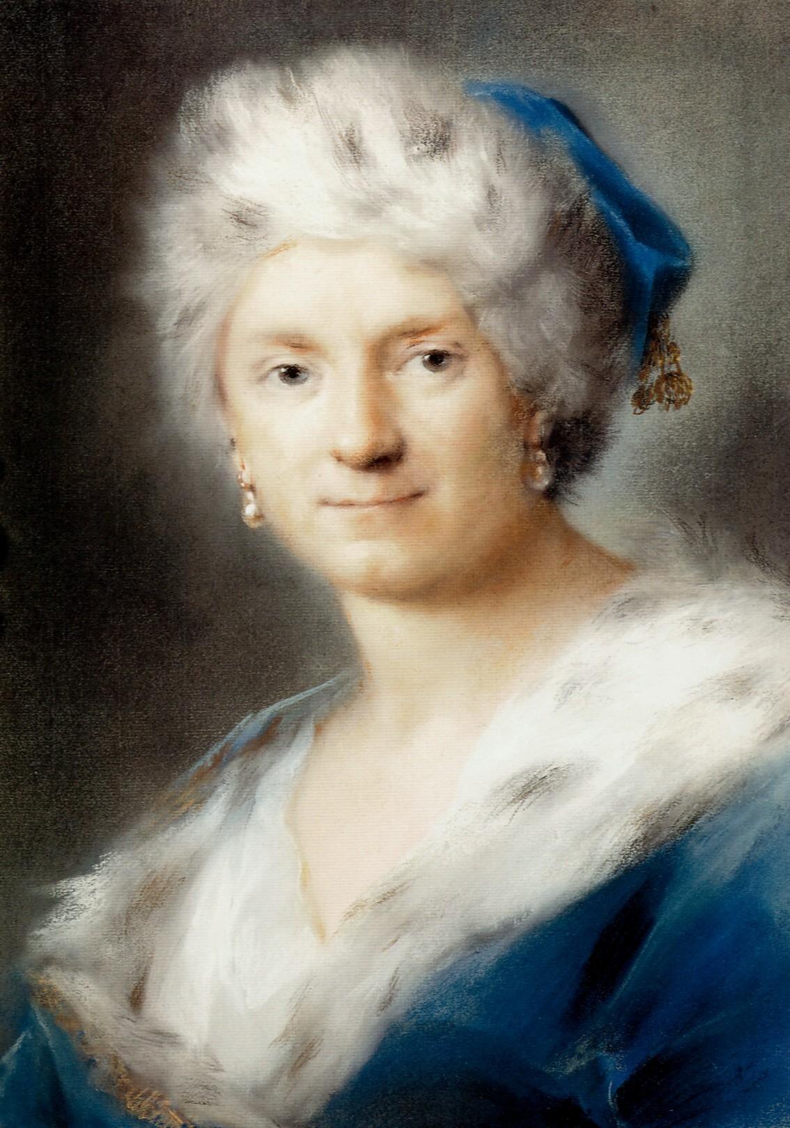 Selbstporträt der Rosalba Carriera, 1730/31, Dresden, Gemäldegalerie.