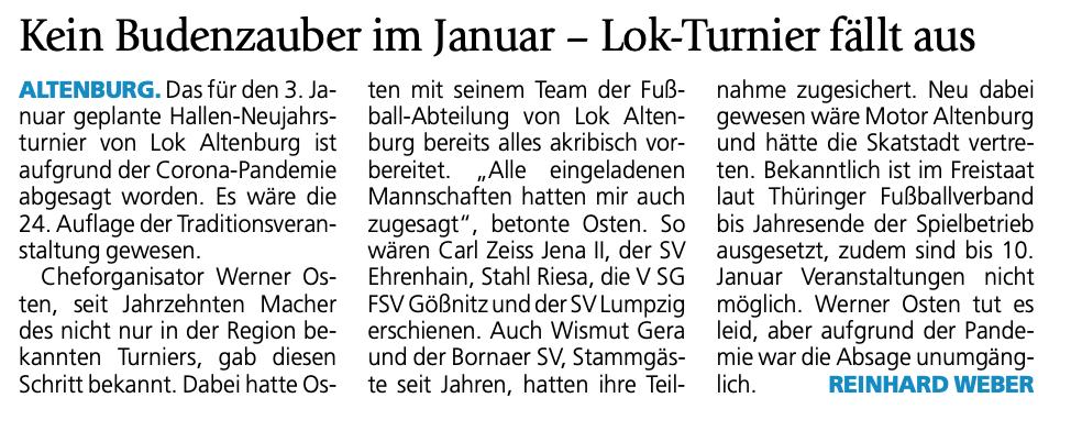 Absage Hallenfußball Neujahrsturnier_2020