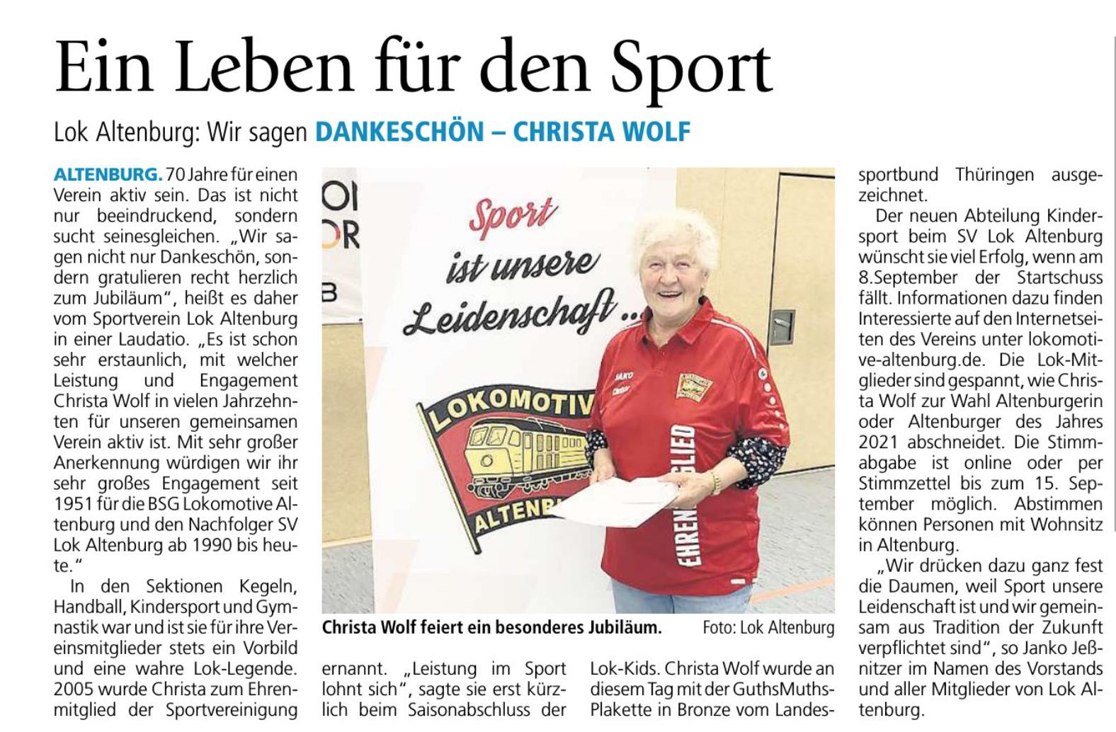 Christa Wolf SOS